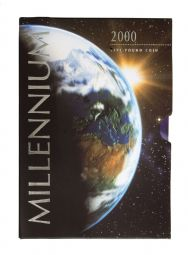 2000 £5 Millennium Royal Mint Brilliant Uncirculated pack for sale